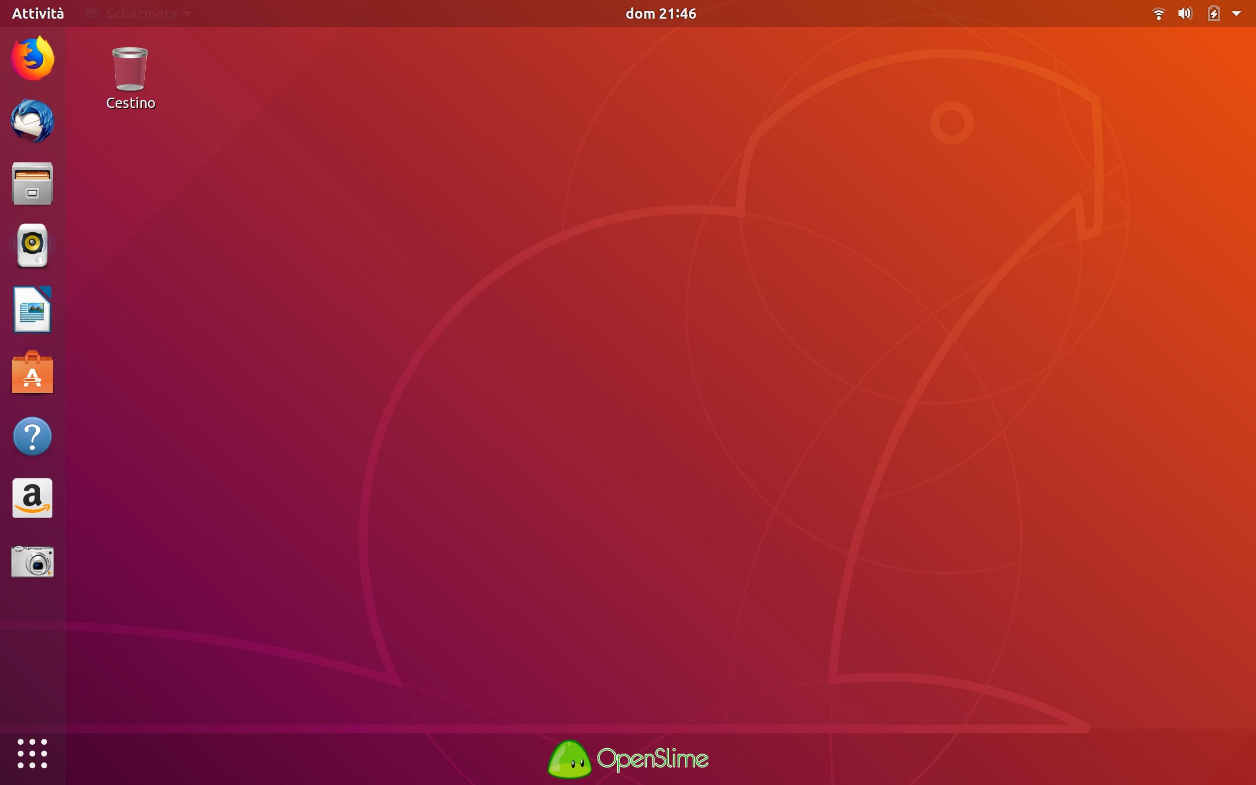 scrivania - Recensione Ubuntu 18.04.1 LTS Bionic Beaver