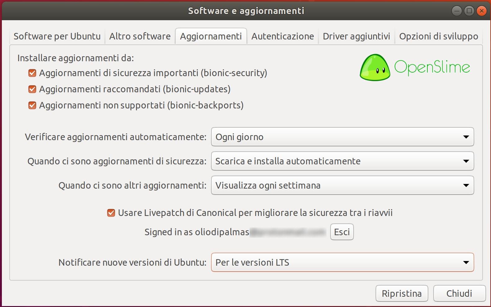 aggiornamenti-software-2 - Recensione Ubuntu 18.04.1 LTS Bionic Beaver