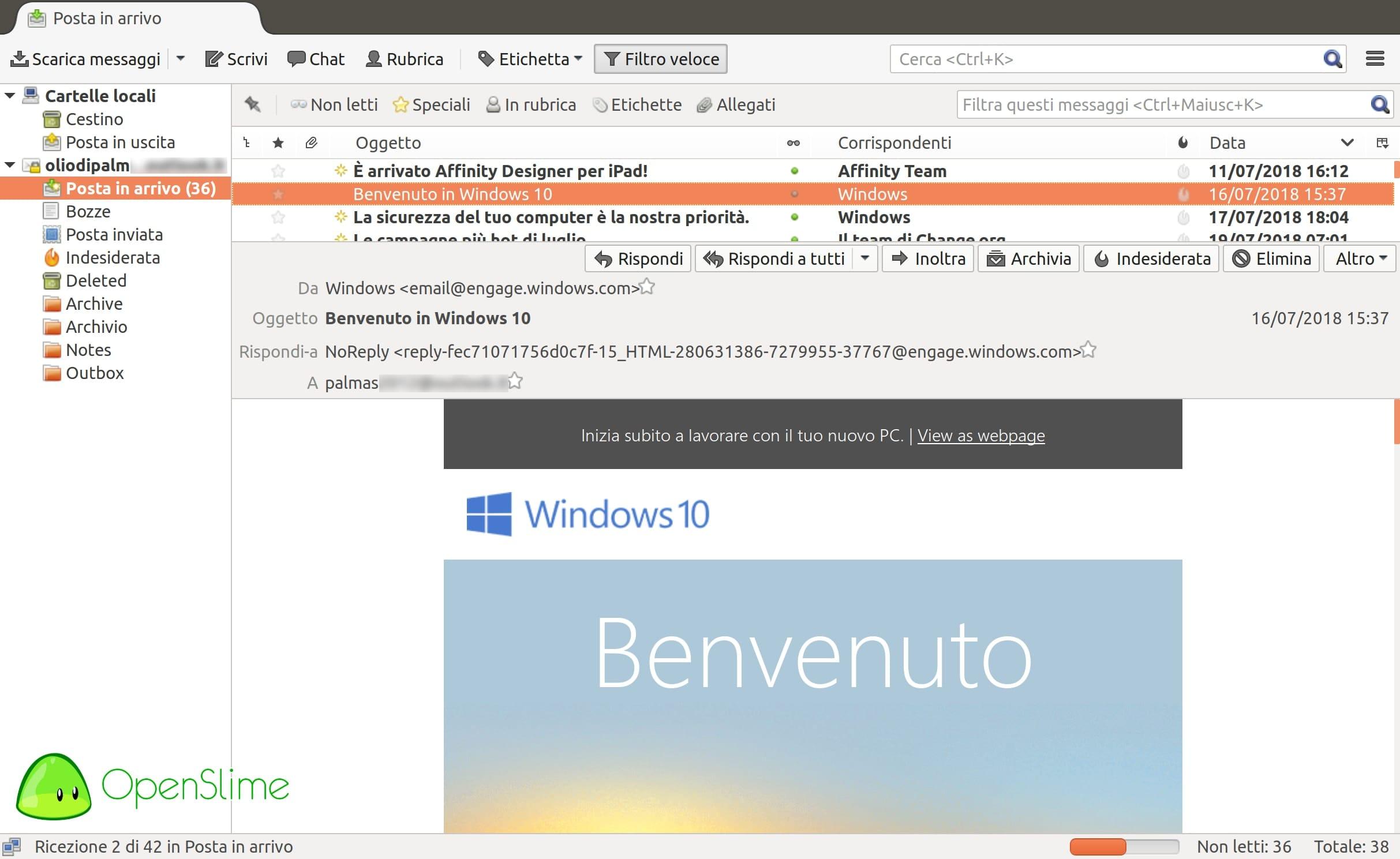 thunderbird - Recensione Ubuntu 18.04.1 LTS Bionic Beaver