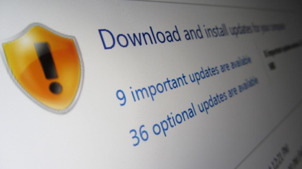 Schermata di Windows Update, che mostra gli aggiornamenti disponibili.