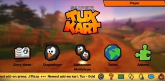 Menu principale di SuperTuxKart